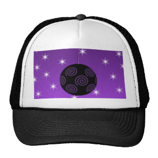 Purple and Black Christmas Bauble. Trucker Hat