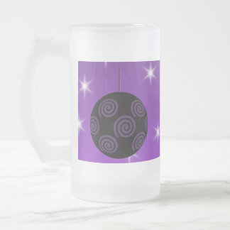 Purple and Black Christmas Bauble Coffee Mugs