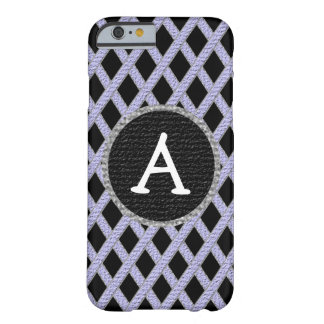 Purple and black crisscross monogram cell phone ca barely there iPhone 6 case