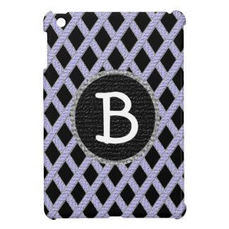 Purple and black crisscross monogram ipad mini cas case for the iPad mini