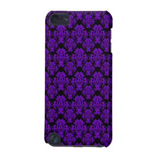 Purple and Black Damask 2 iPod Touch 5G Cases