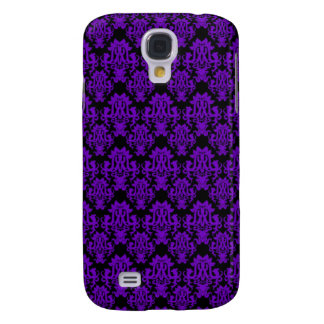Purple and Black Damask 2 Samsung Galaxy S4 Covers