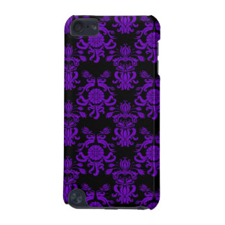 Purple and Black Damask 3 iPod Touch (5th Generation) Cover