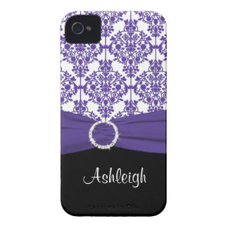 Purple and Black Damask Blackberry Bold Case