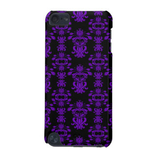 Purple and Black Damask iPod Touch (5th Generation) Covers