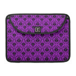 Purple and Black Damask Design. Gothic. Sleeves For MacBooks
