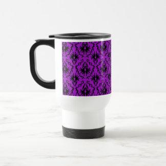Purple and Black Damask Design. Gothic. Coffee Mugs