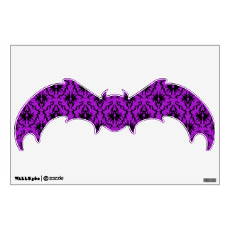 Purple and Black Damask Design Gothic Wall Stickers