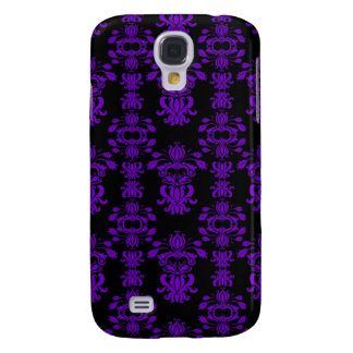 Purple and Black Damask Galaxy S4 Covers