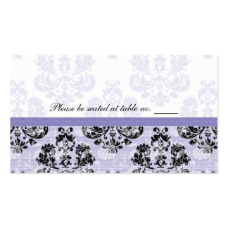 Purple and Black Damask Wedding Table Place Cards Business Card Templates
