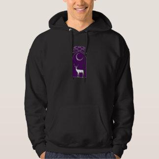 Purple And Black Deer In The Forest Celtic Art Hoodie