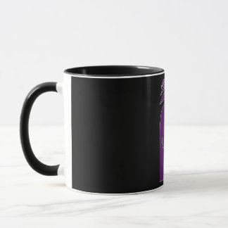 Purple And Black Deer In The Forest Celtic Art Mug