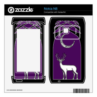 Purple And Black Deer In The Forest Celtic Art Decal For The Nokia N8