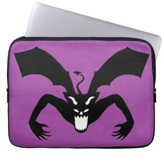 Purple And Black Devil Laptop Computer Sleeve