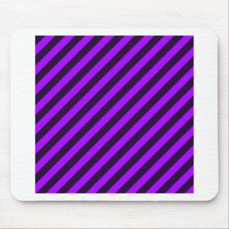 purple and black diagonal stripes mouse pad