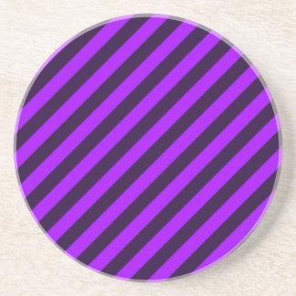 purple and black diagonal stripes sandstone coaster