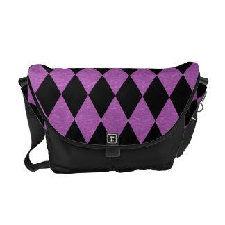 Purple and Black Diamond messenger bag