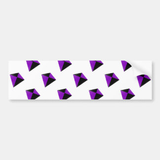 Purple and Black Diamond Shaped Kites Bumper Stickers