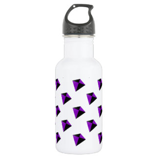 Purple and Black Diamond Shaped Kites Stainless Steel Water Bottle