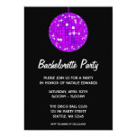 Purple and Black Disco Ball Bachelorette Party Card