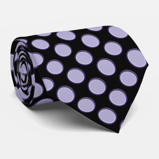 Purple and Black Dots Double-sided Print Tie