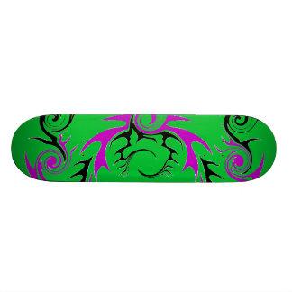 purple and black dragon skate board