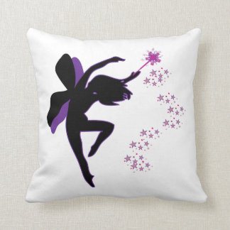 Purple and Black Fairy Pillow