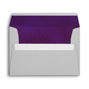 Halloween Themed Purple and Black Fish Net and Silver Gray Envelope