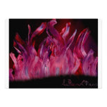 Purple and black flames in Spray Paint Personalized Invitation