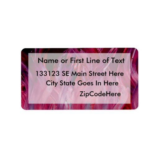Purple and black flames in Spray Paint Personalized Address Label