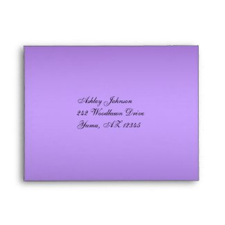 Purple and Black Floral Envelope for Reply Card envelope