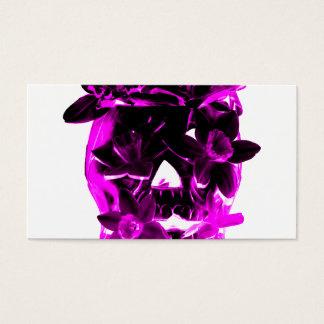 Purple and Black Flower Skull Business Card