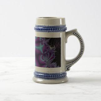 Purple and Black Fractal Art Beer Stein