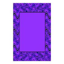 Purple and Black Geometric Wave Pattern Flyer