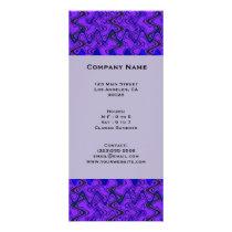 Purple and Black Geometric  Wave Pattern Rack Card