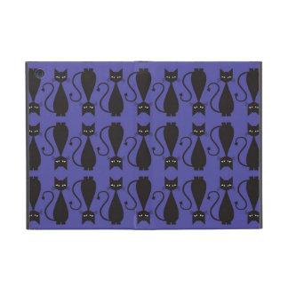 Purple and Black Goth Cat Pattern iPad Mini Case