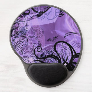 Purple and Black Goth Pattern Gel Mouse Pad