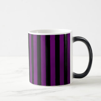 purple and black grungy stripes mug