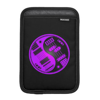 Purple and Black Guitar and Bass Yin Yang iPad Mini Sleeve
