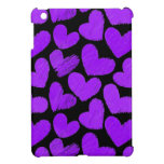 Purple and black hearts iPad Mini Case