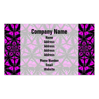 Purple and Black Hippie Pattern Business Card