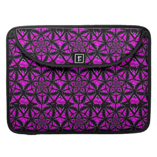 Purple and Black Hippie Pattern MacBook Pro Sleeve