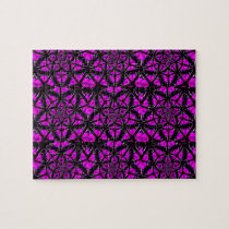 Purple and Black Hippie Pattern Puzzle