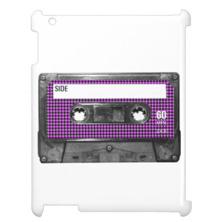 Purple and Black Houndstooth Label Cassette Cover For The iPad 2 3 4