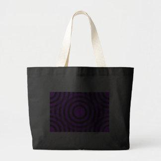 purple_and_black_interlocking_concentric_circles tote bag