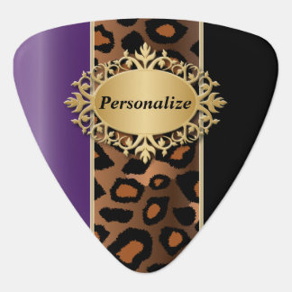 Purple and Black Jaguar | Personalize Guitar Pick