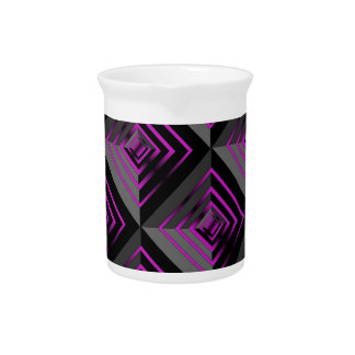 Purple and Black Layers Beverage Pitchers