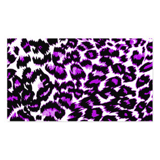 Purple and Black Leopard Print Business Card Templates