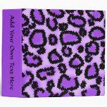 Purple and Black Leopard Print Pattern. Binders