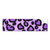 Purple and Black Leopard Print Pattern. Bumper Sticker